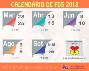 Datas para os próximos FDS